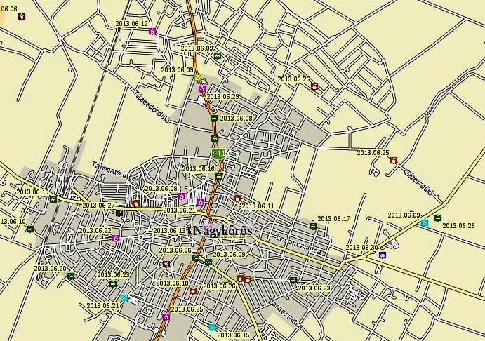 nagykőrös térkép Mi Abonyunk   Mindennapos bűnügyeink: A számok nem hazudnak nagykőrös térkép